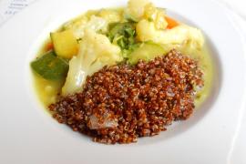 The quinoa and vegetables at Bon Lloc