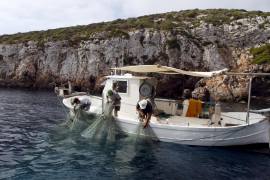 A fishing boat in Cabrera.