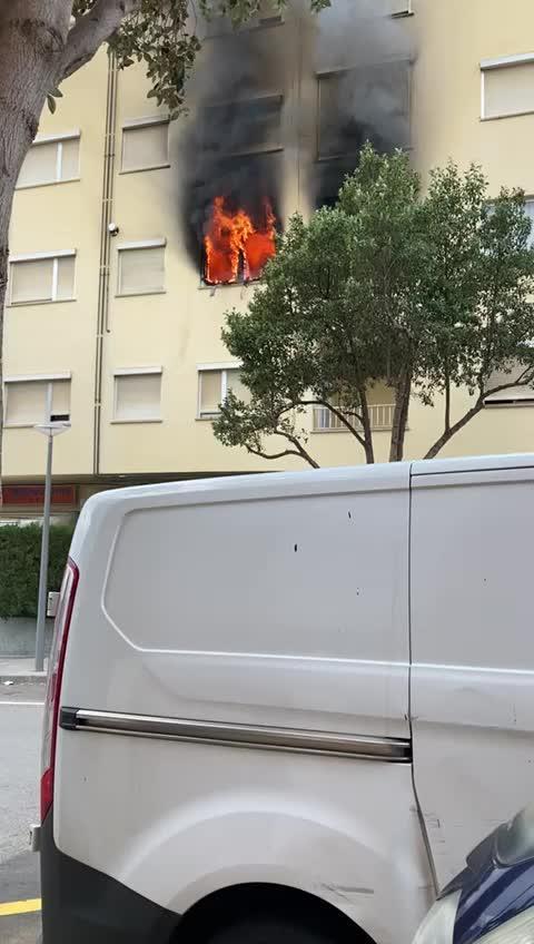 Fire raging in Palma