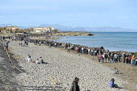 New protest against Son Serra beach facilities