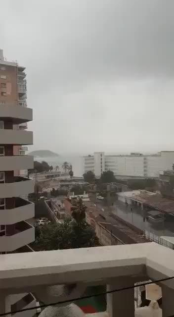 Magalluf hit hard by high winds and storm: See our video.