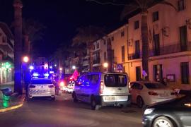 Police protesting in Santa Margalida