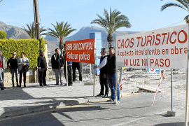 Puerto Pollensa hotels inundated with complaints about pedestrianisation work