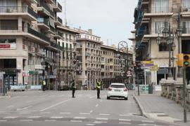 A deserted Palma, Mallorca during lockdown.
