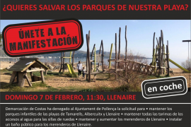 Puerto Pollensa beach playgrounds protest