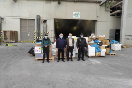 Three tonnes of drugs incinerated in Mallorca