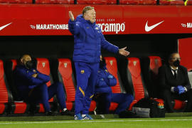 Koeman disappointed with Sevilla defeat but says anything possible in second leg