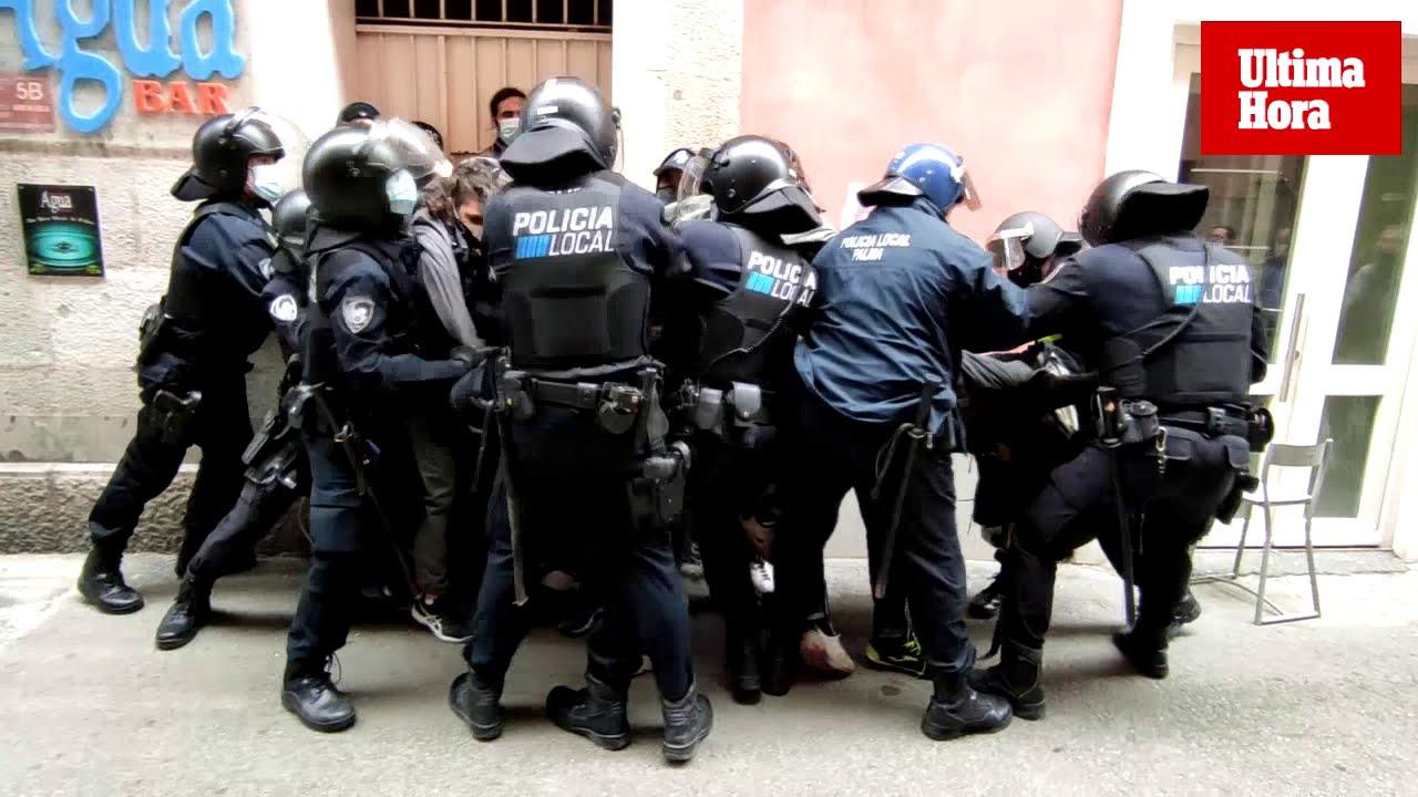 Tensions rise during partial eviction in Palma