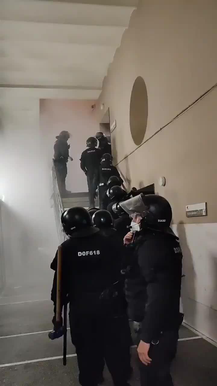 Spanish police storm university, arrest rapper convicted in free speech case