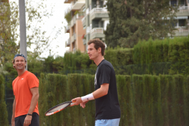 Murray gets ready for Madrid in Majorca