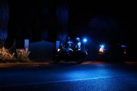Police in Sant Jordi, Mallorca.