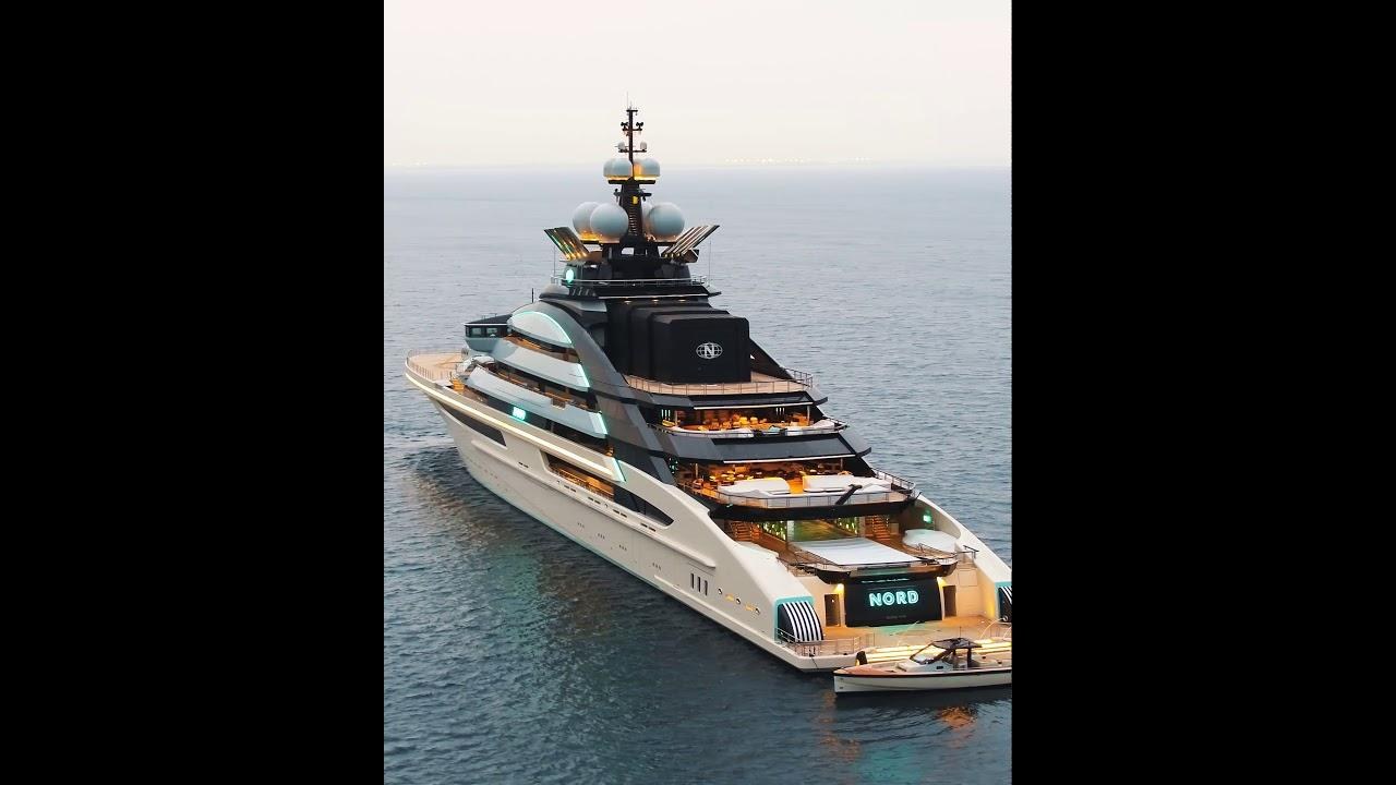 The yacht Nord in all its glory off Mallorca