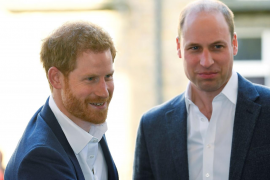 Britain's Prince William and Prince Harry attend the opening of the Greenhouse Sports Centre in central London