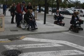 Puerto Pollensa pavements preventing disabled user accessibility