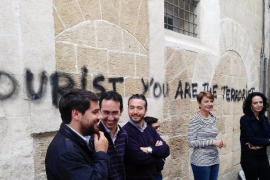 PP attacks town hall inaction over Palma graffiti