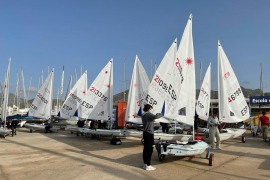 Spanish sailing cup in Puerto Pollensa