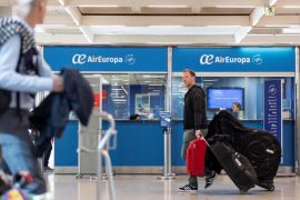 Air Europa desks at Palma airprt