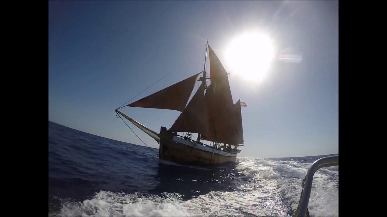 The 110 year old ship, 'Toftevaag' is in Soller