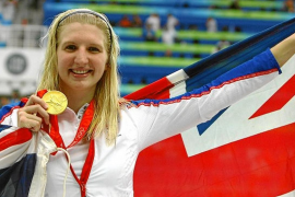 Rebecca Adlington came to train in Majorca before Beijing 2008