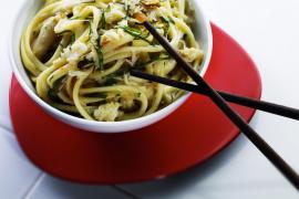 Linguini with Crab & Chill