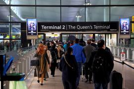 People at Heathrow airport