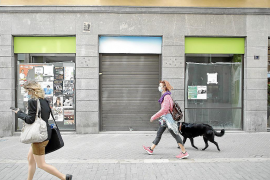 Closed shops in Palma, Mallorca
