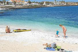 Tourists on the Fuerteventura beach