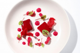 Your weekend culinary delights: Chilled beetroot gazpacho with marinated prawns