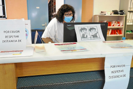 Health centre reception in Ibiza