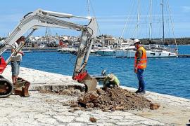 Restoration at the pier in Portocolom, Mallorca