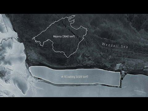 Antarctica gives birth to world's largest iceberg just bigger than Mallorca!