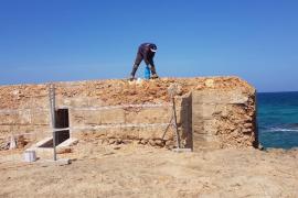 Restoration of machine gun nests in Can Picafort, Mallorca