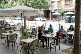 Residents' complaints because of Palma temporary terraces
