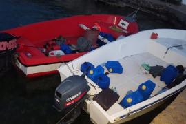 Migrant boats in Mallorca