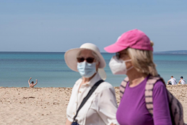 Masks have been mandatory indoors and out across most of Spain, regardless of social-distancing, since last summer.