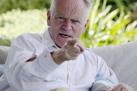 Lord Jeffrey Archer at this home in Llucmajor