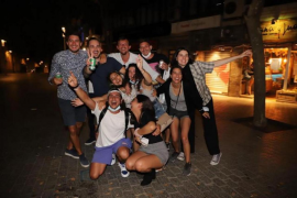 Celebrations in Mallorca on first night of freedom