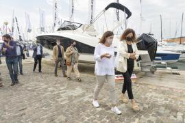 The Balearic authorities visit the Palma International Boat Show