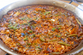 The vegetable paella was a beauty and worth a 10
