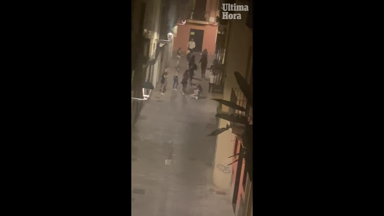 Brutal attack in central Palma