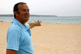 The diver who found a Roman anchor in Playa de Palma