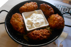 The courgette fritters were most successful.