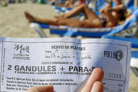 Charges for Puerto Pollensa sunloungers have not been authorised