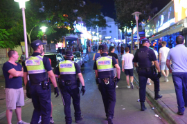 Police numbers for Magalluf and Santa Ponsa increasing