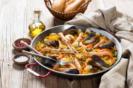 The classic Valencian Paella