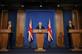 Boris Johnson announcing an end to restrictions