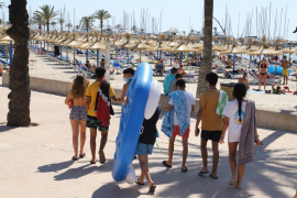 Spanish students in Arenal, Mallorca