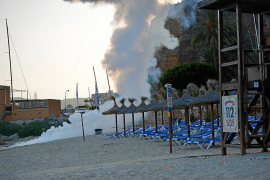 Controlled explosion on Portals beach