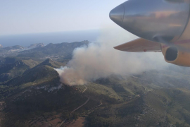 Forest fire in Andratx