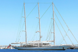 One of the biggest private sail boats in the world docks in Palma